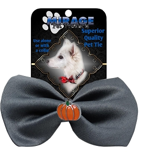 Pumpkin Widget Pet Bowtie Grey